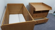 Babies Cot and Change table combo