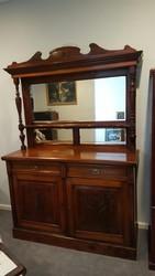 Antique English Display Cupboard/Mirror