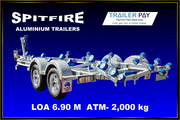 Aluminium boat trailer by Spitfire 6.9 metres for sale